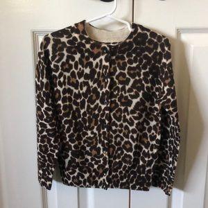 NWT J Crew leopard print cardigan